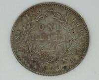 British Colonial India-Queen Victoria Silver One Rupee Coin- 1840