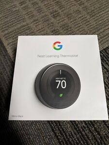 GOOGLE Nest Learning Programmable Thermostat - MIRROR BLACK T3016US