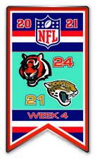 2021 Semaine 4 Bannière Broche NFL Cincinnati Bengals Vs Jacksonville Jaguars