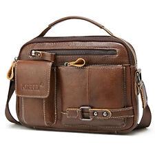 Men's 100% Genuine Leather Briefcase Shoulder Bag 9.7