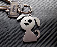 DOG Doggy Puppy Canine Cute Novelty Gift Keyring Keychain Key Bespoke Stainless