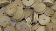 50x WOODEN CAR & TRAIN WHEELS & Pulleys 30mm x 10mm Toy Model making Birch Wood