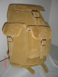 LEATHER RETRO VINTAGE  BACK PACK / RUCK SACK SUEDE / LEATHER