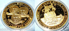 Moon Landing Gold Coin Apollo 11 Neil Armstrong Sci Fi Star Wars Trek Space NASA