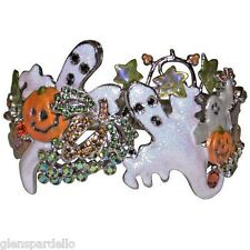 KIRKS Folly Pumpkin Patch Party Cuff Bracelet (Antique Silvertone/average  size)