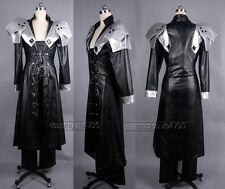 Final Fantasy VII 7 Sephiroth Cosplay Costume Any Size+gloves