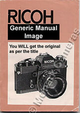 Ricoh XR7 Manual More Camera Instruction Books Listed