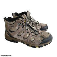 Merrell Men's US 9.5 Hiking Boots Brown Waterproof Mid Height Outdoors Well Worn