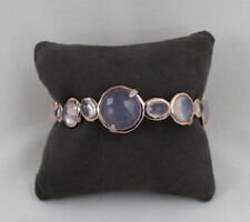 Ippolita Rose Sterling Diamond Pink Quartz Rock Crystal Bracelet Bangle