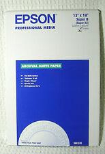 "Epson Professional Media Archival Matte Paper 13""X19"" Super B 30 Sheets"