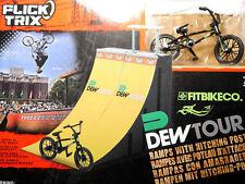 FLICK TRIX - Set: FitbikeCo BMX Rad bike + 2x Rampe für DEW TOUR Modell Diorama!
