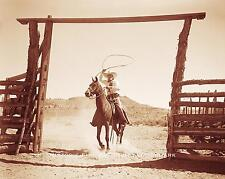 OLD WEST COWBOY RANCHER VINTAGE PHOTO HORSE WYOMING 1900 8x10 #21628