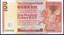 HONG KONG BANKNOTE 100 P79a 1979 AU - Chartered Bank