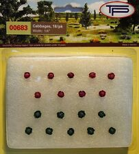 Tasma 00683 - Cabbages 18 Pack (9 Red, 9 Green) 'OO' Gauge - 1st Class