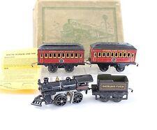 Hafner O Overland Flyer Clockwork Train Set ERIE Passenger Cars + Engine & Box