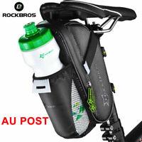 ROCKBROS Bicycle Saddle Bag Cycling Under Seat Bike Waterproof Seatpost Bag AU