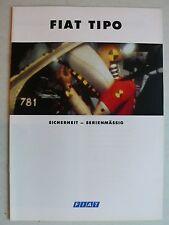 Prospekt Fiat Tipo - Sicherheit serienmässig, 4.1993, 16 Seiten