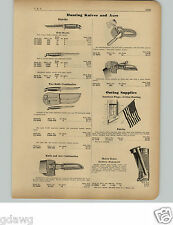 1951 PAPER AD Kinfolks Hunting Knife Knives Two Combination  Axe Combination