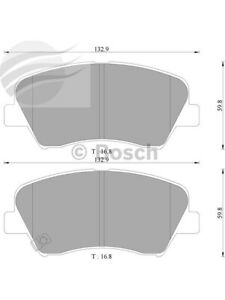 Bosch Brake Pad Front Set For Hyundai Accent,I30,I40,Elantra Lantra DB2240BL)
