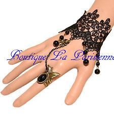 Gothic Armband Ring Viktorian Burlesque Rüschen  Barock Spitze Trachtenschmuck