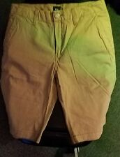 2 Pair ofGap Cotton Flat Front Shorts (Men's) Size 29 tan , green