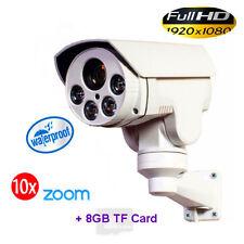 CCTV 1080P Mini Outdoor IR IP PTZ Camera 10x zoom 2M HD 8GB ONVIF Day/Night