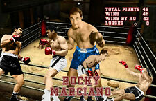 Lithograph print of Rocky Marciano 17 x 11