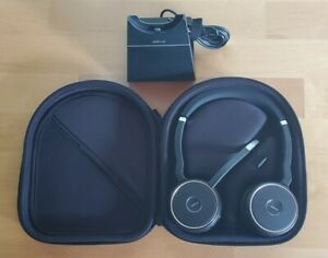 Jabra Evolve 75 Wireless Bluetooth Headset HSC040W + Dock + CASE!