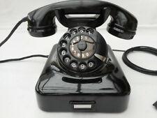 ALTES BAKELIT TELEFON   W48 +  Fr  Reiner  + 1951 + Wählscheibe + restauriert