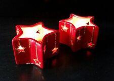 """* 2er Set Kerzenhalter """"Sterne"""", Tischdeko, Geschenk, Weihnachten, Kerze *"""