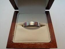 palladium & 18ct gold wedding band ring size R