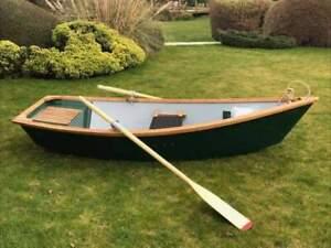 Fibreglass & Oak 9 Foot Rowing Boat