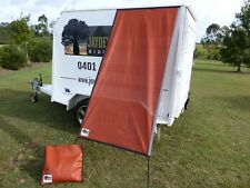 Premium Caravan Fridge / Window Shade 2.0M Uluru Orange