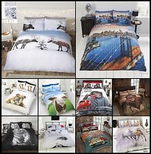 Duvet Cover Sets Animal Print Bedding with Pillow Cases Single Double King Sizes