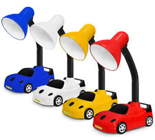 Racing Car Desk Lamp Kids Playroom Bedside Night Light Table Lamp On/Off Button