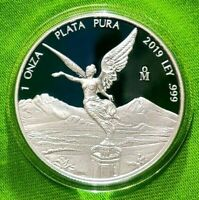 2019 1 oz Silver Libertad PROOF ! 1 Onzas Plata Pura! Mexico Mint 5,500 Only !