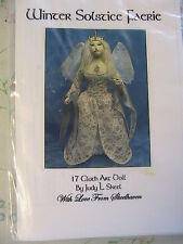 "WINTER SOLSTICE FAERIE-FAIRY~Judy Skeel GORGEOUS 17"" CLOTH  ART DOLL PATTERN~"