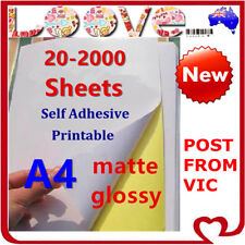 A4 Self Adhesive Sticker Paper Sheet Label Laser Inkjet Print Mailing Address