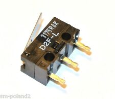 D2F-L OMRON SWITCH SNAP ACTION SPDT 3A 125V MicroSwitch Lever [QTY=1pcs]