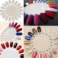 10x MakeUp Nail Art Tips Practice Round Wheel Polish Acrylic Display Decorations