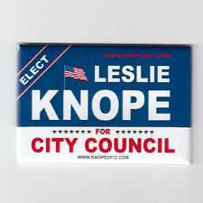 "PARKS & RECREATION / LESLIE KNOPE FOR CITY COUNCIL 2""x3"" POSTER FRIDGE MAGNET"