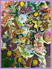 Large Assortment of Fabric Applique Mix Cartoon Prints/Embellishment/Sewing 120