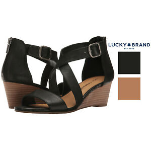Lucky Brand Womens Jenley Strappy Wedge Sandal