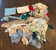 VTG Lace Trim Lot Variety Sizes Widths Ric Rac  Scraps Junk Journal Crafts Etc