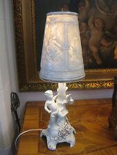PMP Plaue Lampe Gold Riesig 60cm Lithophanie Figur Schreibtischlampe Putto Engel
