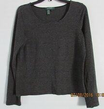 LAUREN RALPH LAUREN TOP SIZE LARGE LONG SLEEVES ROUND NECKLINE