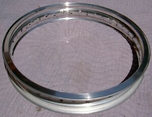WM1 1.60 X 21 -40 hole Akront/Italian style flanged alloy vintage motorcycle rim