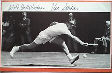 Vic Seixas – campeón de Wimbledon 1953-Foto Autografiada De Tenis