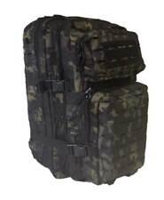 Mochila asalto 36 litros LG molle laser multicam black, estilo militar Miltec