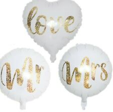 "17"" Balloons Mr. Mrs. Love Decoration Wedding Engagement Anniversary Us Shipping"